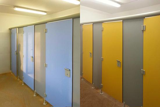 Compartimentari sanitare HPL Saniclips